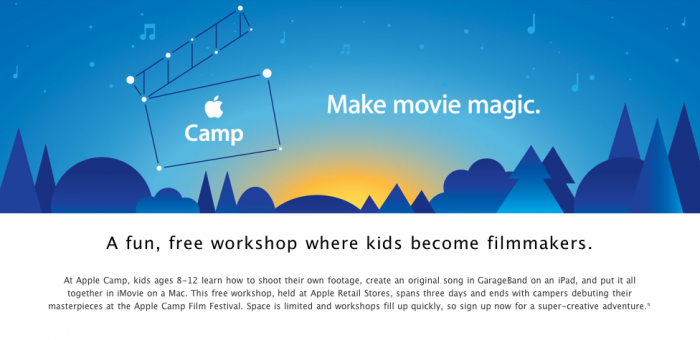 Another great Apple idea: Filmmaking classes for kids